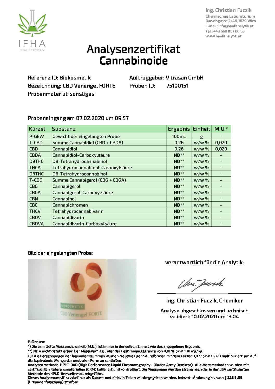 cbd магазин - biokosmetik analysenzertifikat venengel 02 2020 pdf