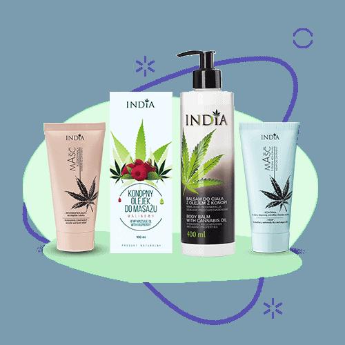 сбд магазин - козметика с коноп от India Cosmetics